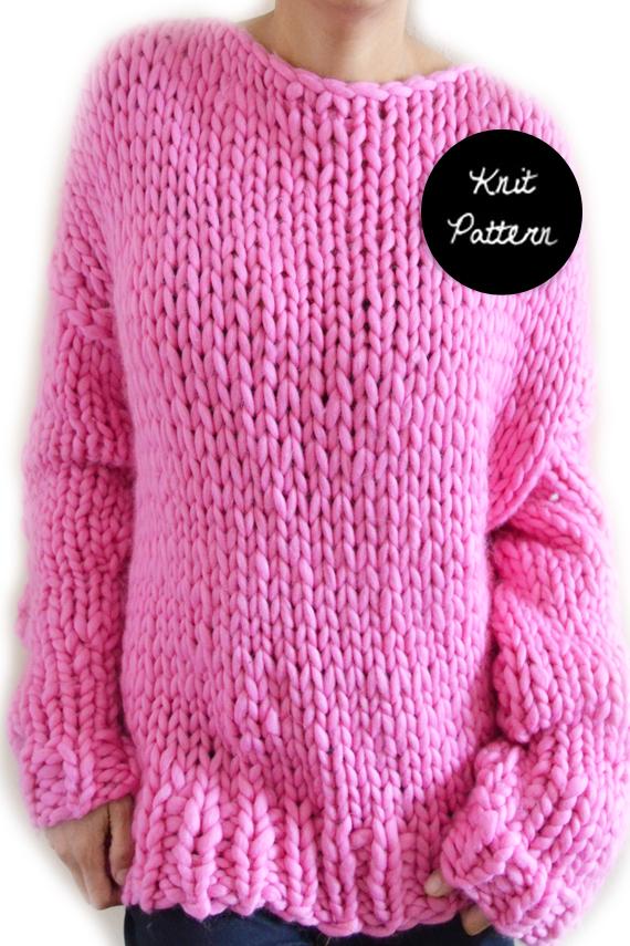 Boyfriend Sweater – Knit Pattern – MANUOSH